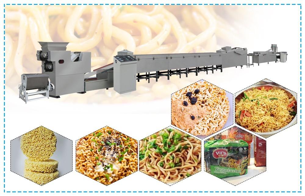 processus de chaîne de production de nouilles instantanées