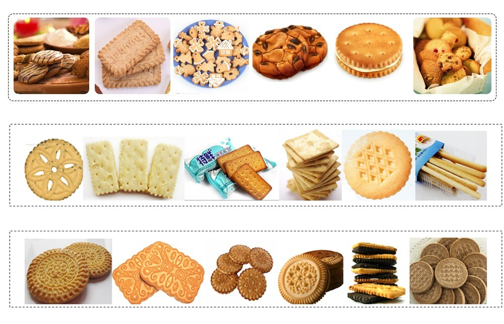 processus automatique de la chaîne de production de biscuits