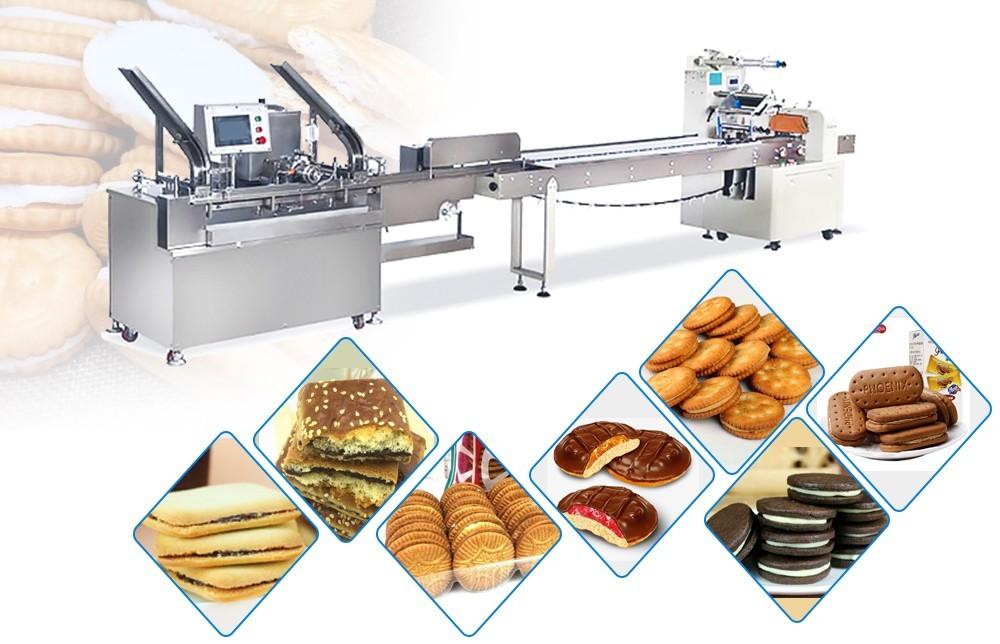le procédé des machines à sandwichs de biscuits