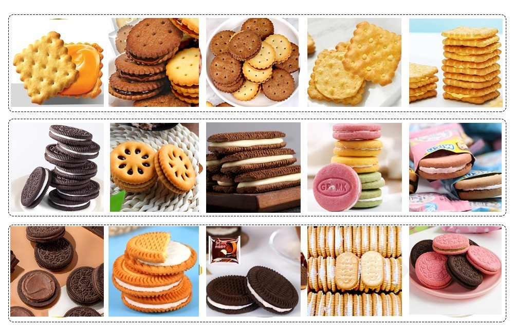 usine de machines à sandwichs de biscuits