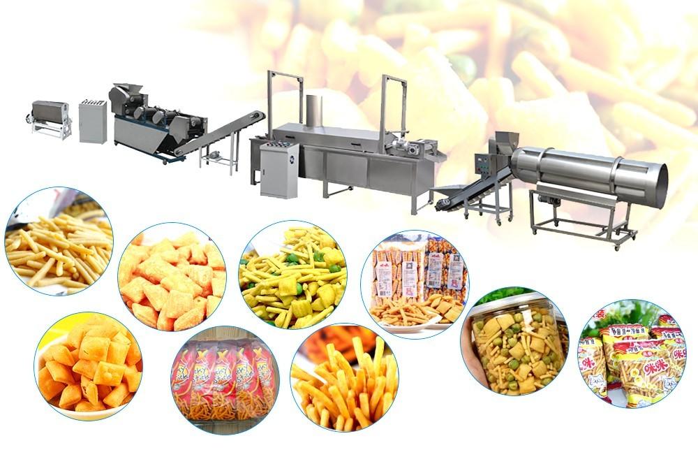 le procédé de la machine à snacker à pâte frite