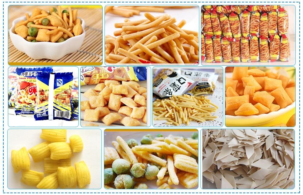 usine de fabrication de snacks à base de pâte frite
