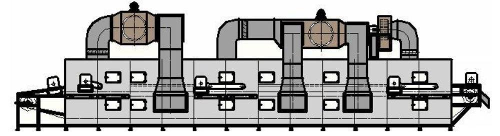 conception d'une machine industrielle de séchage de copeaux de granulés