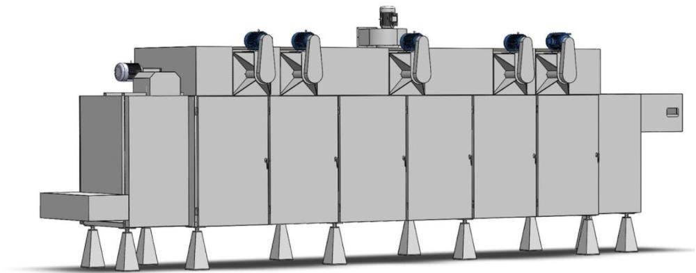 machine à sécher les granulés de bois industriels