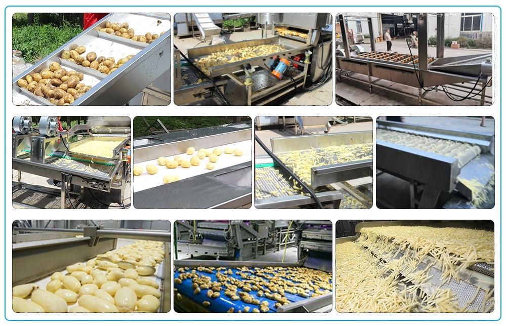 prix de la chaîne de production automatique de pommes de terre frites