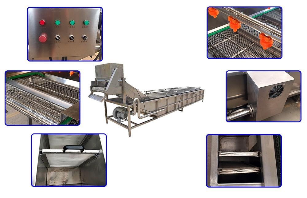 procédé industriel de lavage des fruits et légumes en machine