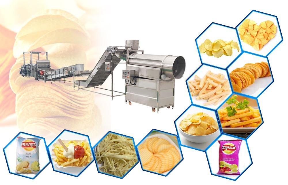 processus de production automatique de pommes de terre en ligne